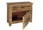Preview: Kommode Massives Mangoholz lackiert Natur 67 x 30 x 60 cm