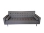 Mobile Preview: Schlafsofa Stoff Edelstahl Braun 219 x 88 x 87 cm