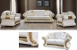 Preview: Sofa Set Cesar 3+2+1 in Weiss-Gold Barock