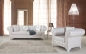 Preview: Sofa Couch Set Chelsea 3+2+1 in Weiss Sessel