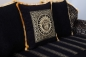Preview: Sofa Couch Set Maya Barock Medusa Mäander Muster 3+2+1 in Schwarz Gold