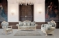 Preview: Sofa Set Pina 3+2+1 Barock in Helllbau Gold