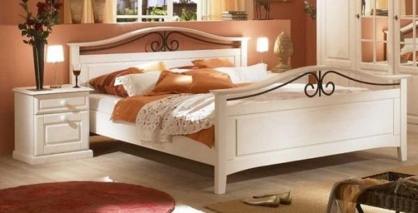 Sandra Schlafzimmerset 4 Tlg. Im Landhausstil In Weiß Pinie Massiv