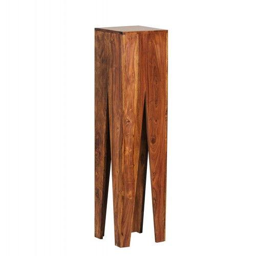 Perfekt Weran Beistelltisch 3er Set KADA Massivholz Sheesham Wohnzimmer Tisch  Design Säulen Landhausstil Couchtisch Quadratisch