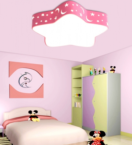 decopoint m bel in troisdorf kinderzimmer led deckenlampe kinderlampe 36w rosa voll dimmbar. Black Bedroom Furniture Sets. Home Design Ideas
