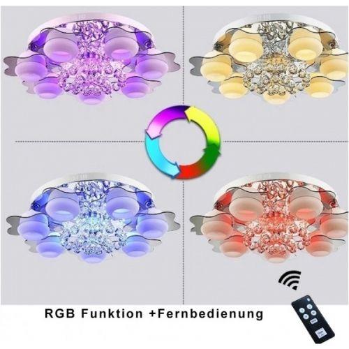 teppiche m bel online kaufen decopoint online shop rgb kristal led deckenlampe 6102 5. Black Bedroom Furniture Sets. Home Design Ideas