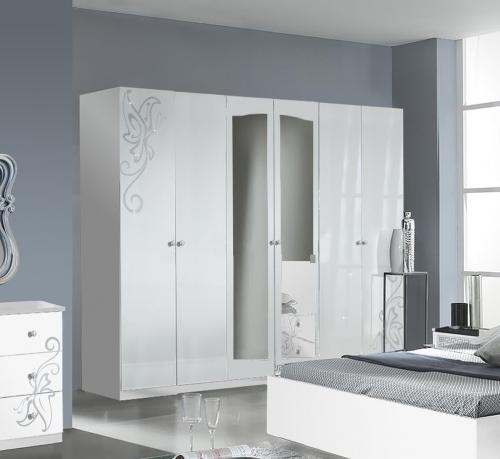 Schlafzimmer Set Rajada In Weiß Braun: Italienische Möbel Esszimmer, Italienische Möbel