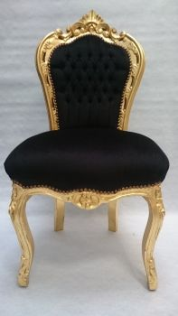 decopoint m bel in troisdorf parsia barockstuhl gold schwarz stoff. Black Bedroom Furniture Sets. Home Design Ideas