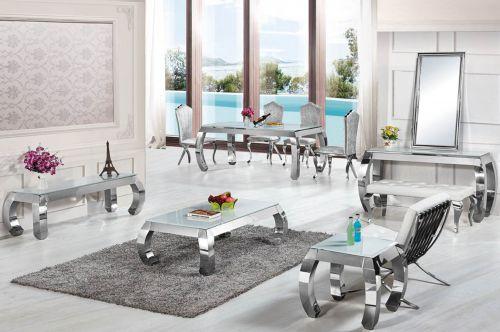 royale 1301 chrom silber gold beistelltisch verschiedene. Black Bedroom Furniture Sets. Home Design Ideas