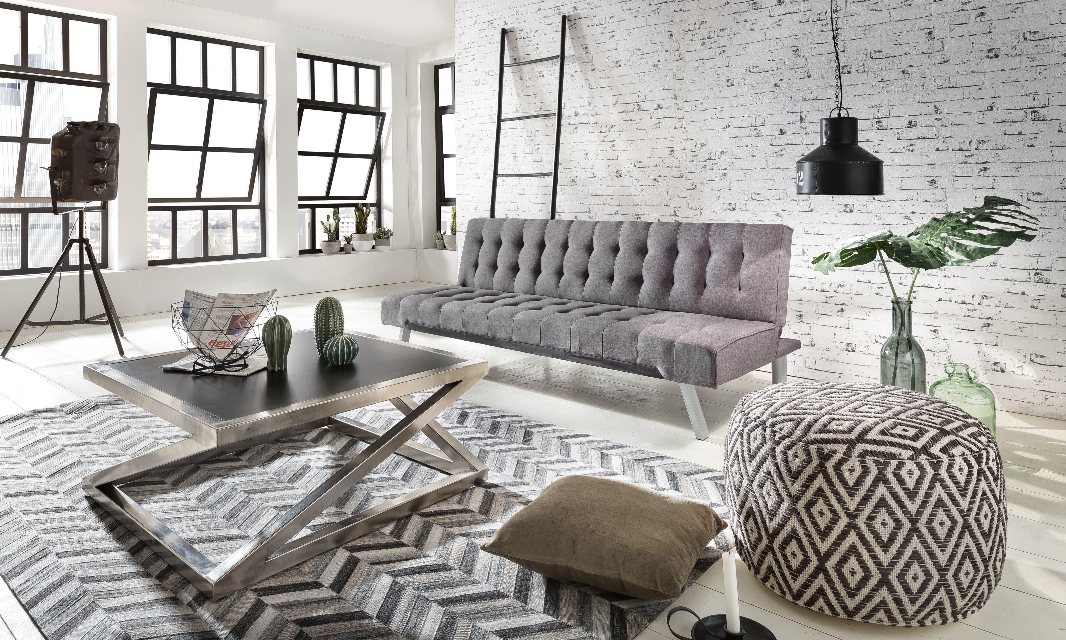 couchtisch aus vernickelten metall und mdf platten schwarz. Black Bedroom Furniture Sets. Home Design Ideas