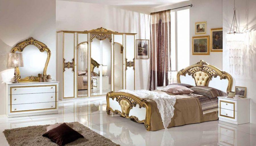 doppelbett eftelya 180 x 200cm barock wei gold elisa bett. Black Bedroom Furniture Sets. Home Design Ideas