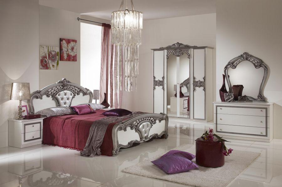 decopoint m bel in troisdorf elisa kleiderschrank 6 trg barock wei silber. Black Bedroom Furniture Sets. Home Design Ideas