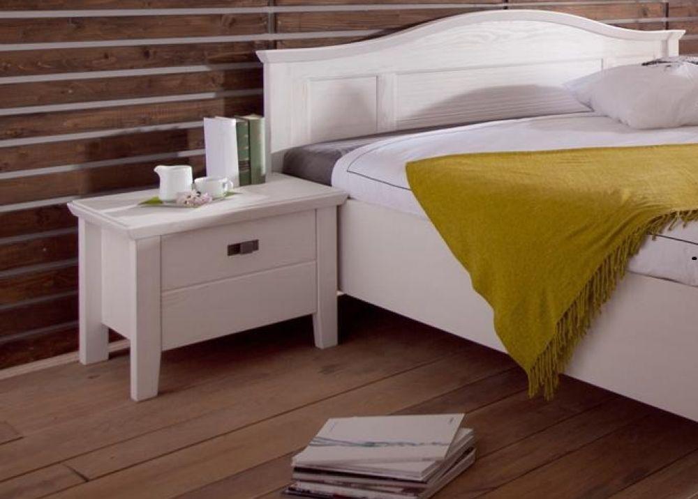 decopoint m bel in troisdorf christa nachtkommode im landhausstil in wei. Black Bedroom Furniture Sets. Home Design Ideas