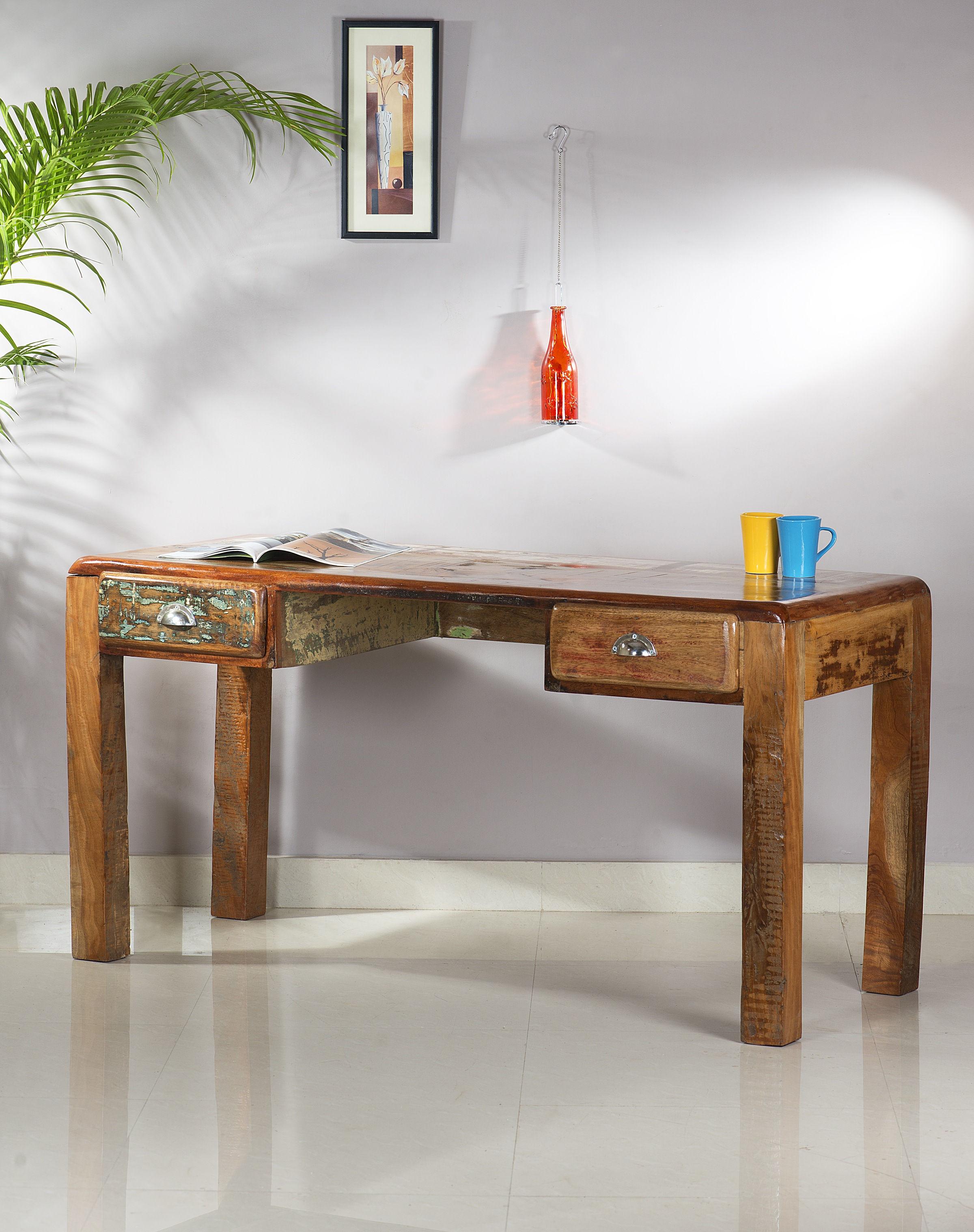Entzückend Schreibtisch 140x60 Galerie Von Aus Lackierten Altholz Bunt 140 X 60
