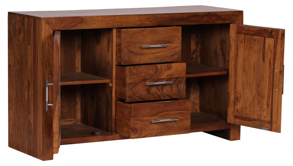 decopoint m bel in troisdorf weran sideboard mumbai massivholz sheesham kommode 118 cm 3. Black Bedroom Furniture Sets. Home Design Ideas