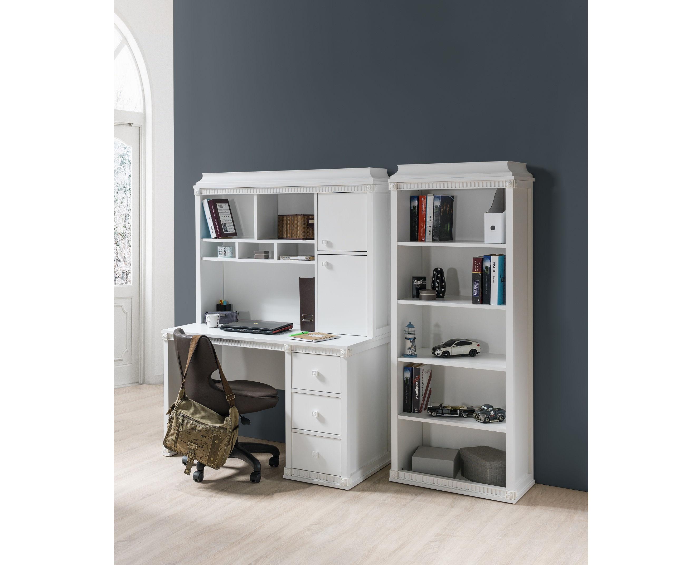 schreibtisch hazeran mit aufsatz landhausstil wei kinder. Black Bedroom Furniture Sets. Home Design Ideas