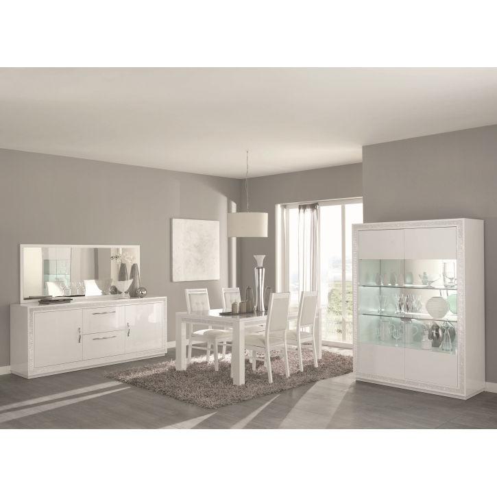 Fantastisch Esszimmer Christal In Weiß Hochglanz Mit LED