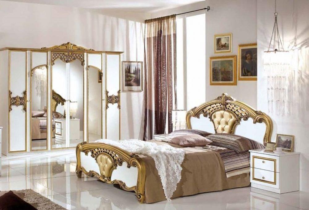 Elisa Schlafzimmerset 6 Tlg Bett 180cm Kleiderschrank 4 Trg