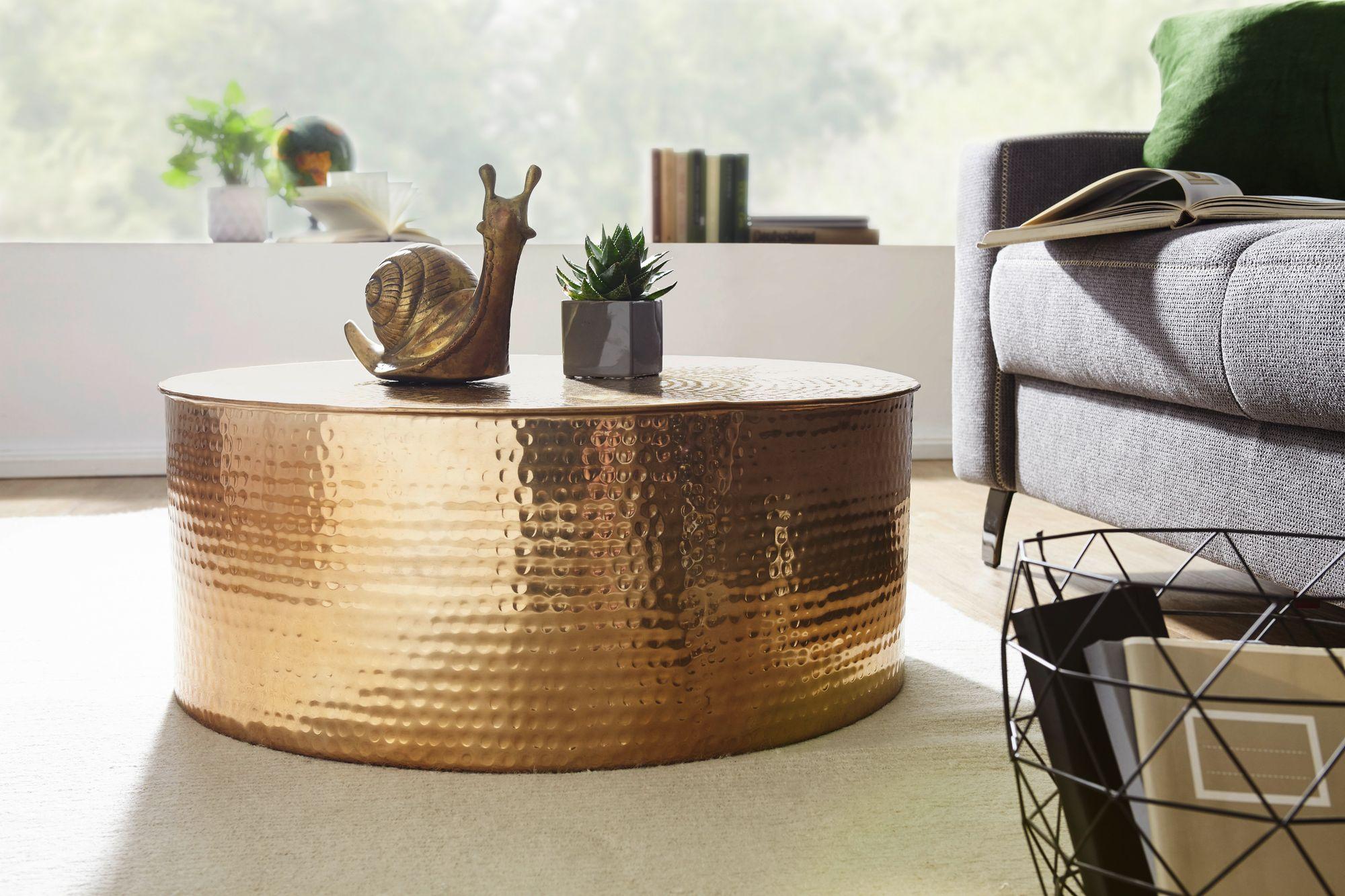 weran couchtisch rahi 75x31x75 cm aluminium beistelltisch. Black Bedroom Furniture Sets. Home Design Ideas