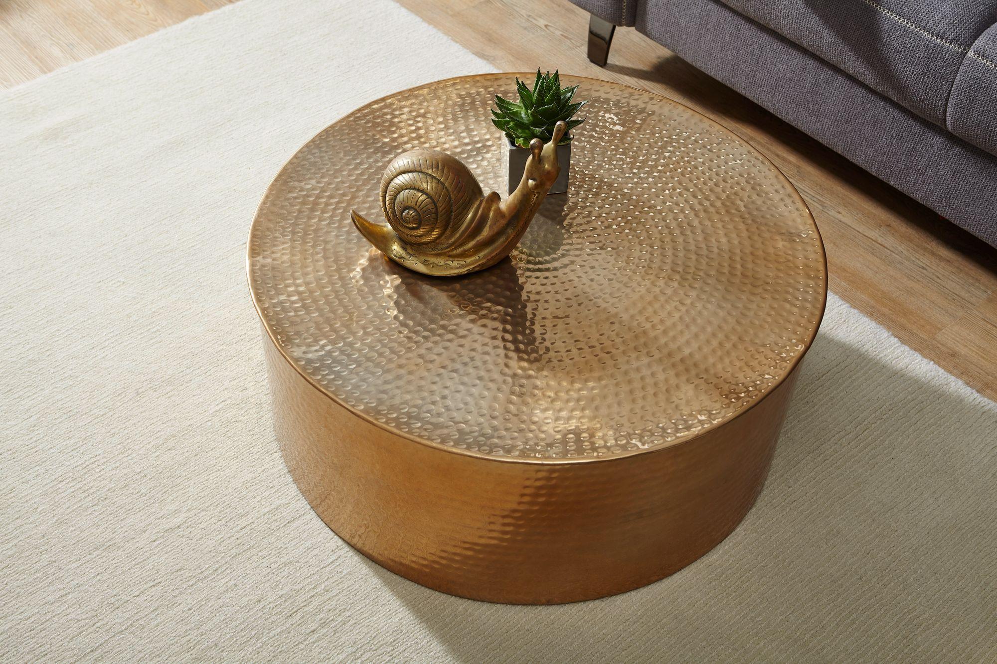 Weran couchtisch rahi 75x31x75 cm aluminium beistelltisch for Couchtisch orientalisch