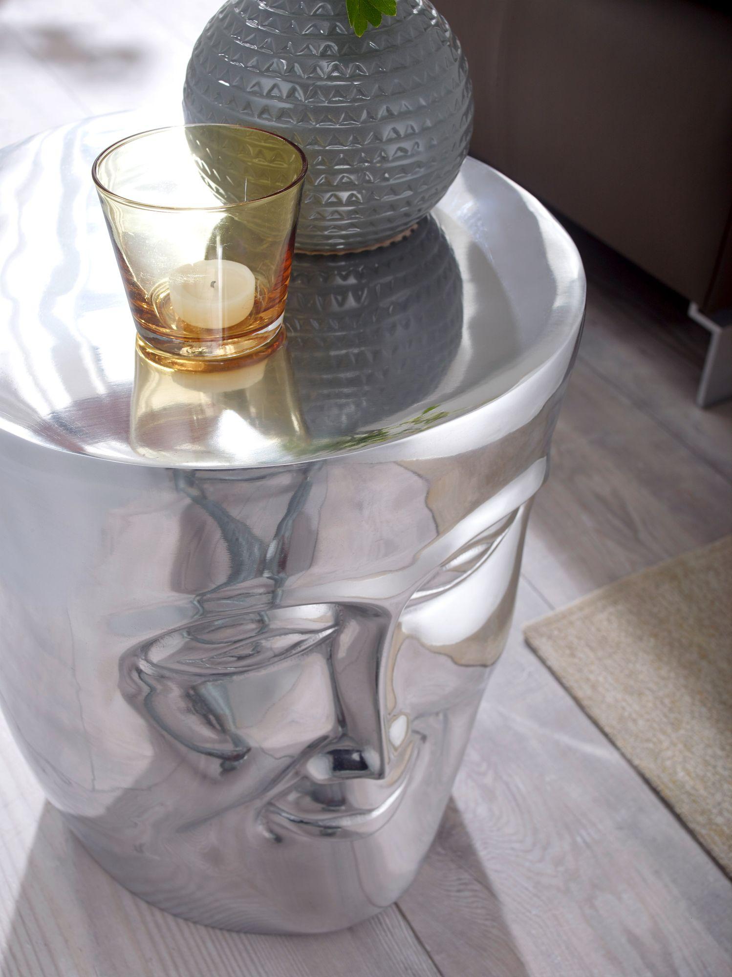 Weran beistelltisch face 35x35x39 cm aluminium couchtisch for Couchtisch orientalisch