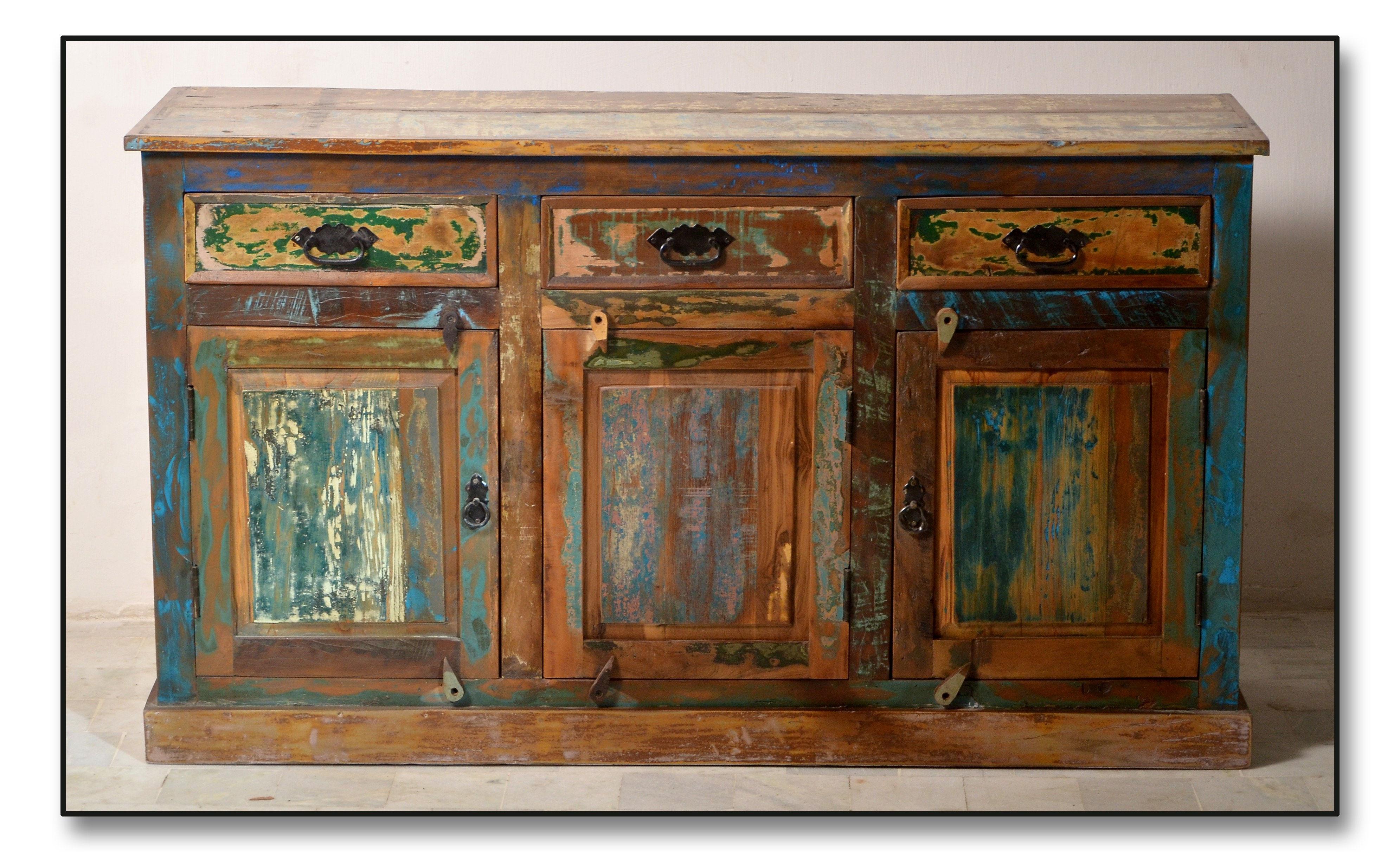 DecoPoint - Möbel in Troisdorf - Sideboard Altholz lackiert Bunt 140 ...