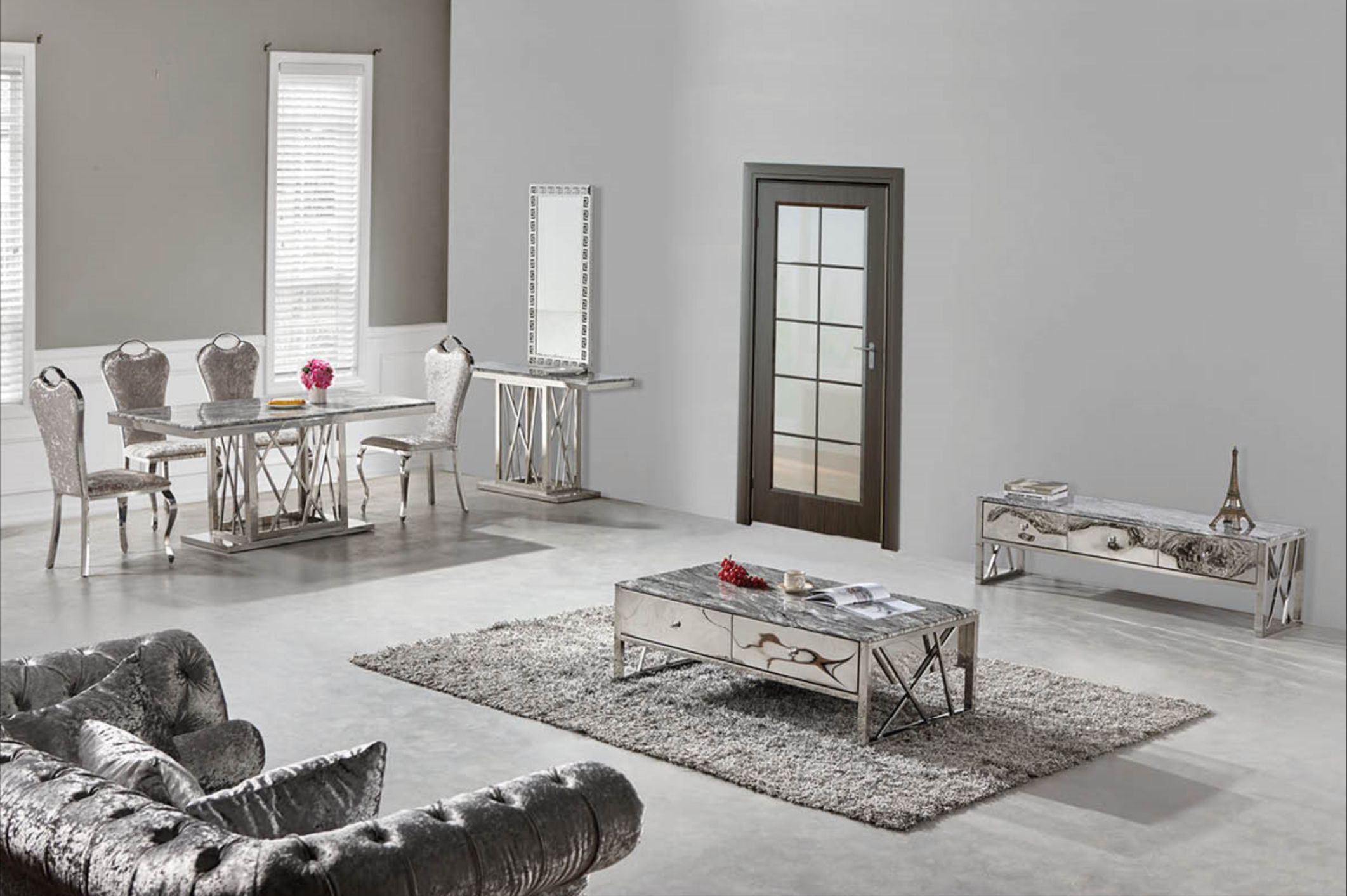aspen 1329 chrom silber gold couchtisch verschiedene. Black Bedroom Furniture Sets. Home Design Ideas