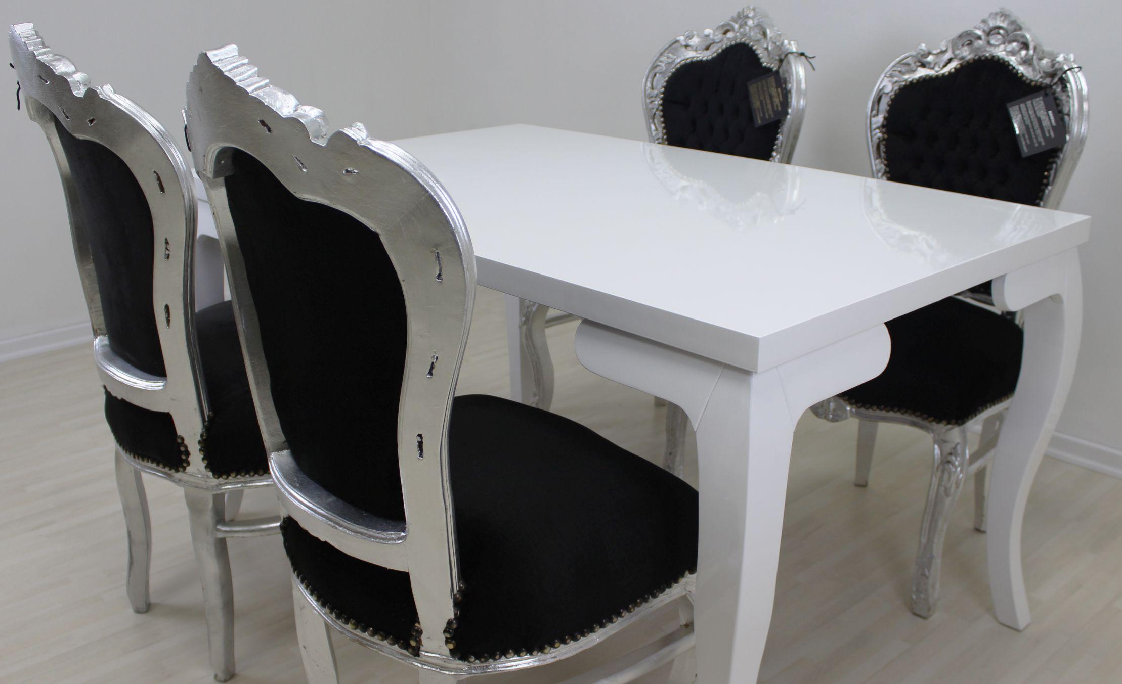 Bemerkenswert Esstisch Stühle Schwarz Galerie Von Barock / Shabby In Weiß Mit 4