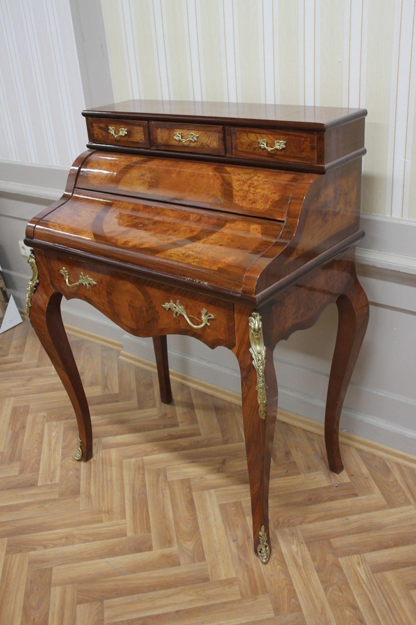 Sekretär Schreibtisch Barock Antik Stil LouisXV MkSk0130