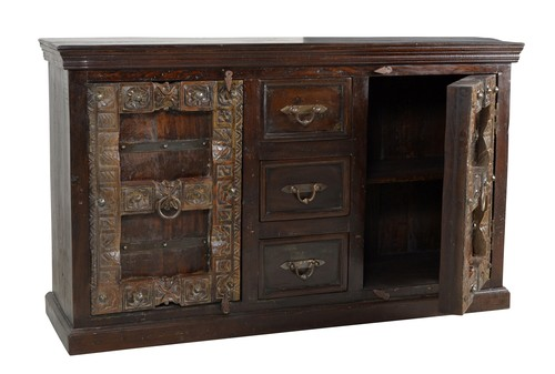 Sideboard Recyceltes Holz Braun 150 x 45 x 90 cm