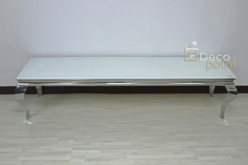 Paris TV-Unterschrank / Sideboard in Chrom / Weiß