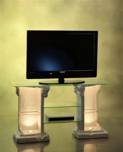 Antik TV-Hifi Regal, Sideboard, Griechischer Stil, Pol-15/68+H (G)